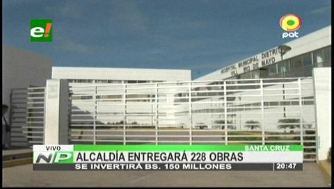 Aniversario de Santa Cruz: Gobierno Municipal entregará 228 obras en septiembre