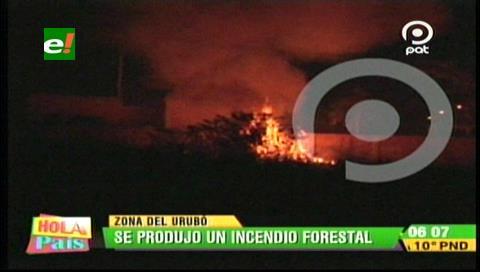 Santa Cruz: Varias viviendas del Urubó se vieron amenazadas por un incendio