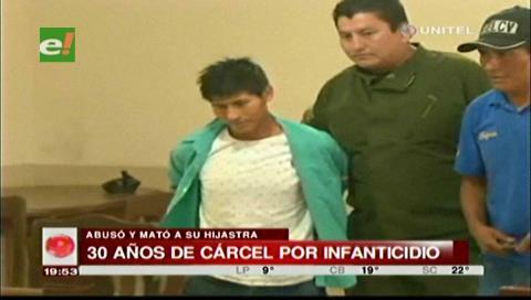 30 años de cárcel para sujeto que abusó y mató a su hijastra de 2 años