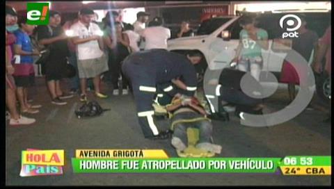 Atropellan a un hombre en la avenida Grigotá