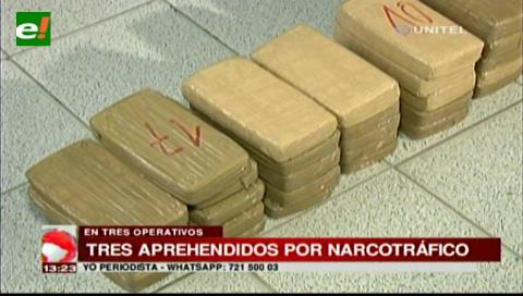 Tres detenidos por narcotráfico