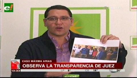Caso Máxima Arias: Diputado Monasterio observa la transparencia del juez Zubieta