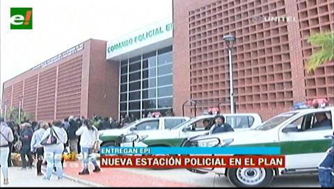 Alcaldía cruceña entregó un módulo policial en la zona del Plan Tres Mil