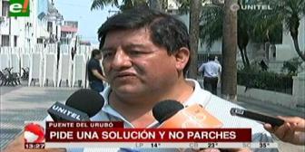 Concejal Sanjinés criticó a quienes se oponen a nuevos puentes en la zona del Urubó
