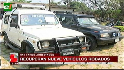 Diprove recupera 9 vehículos robados