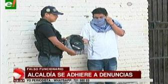 Alcaldía cruceña presenta querella contra falso funcionario