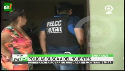 Montero: Policía realiza allanamientos en busca de atracadores