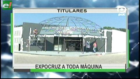 Video titulares de noticias de TV – Bolivia, noche del viernes 1 de septiembre de 2017