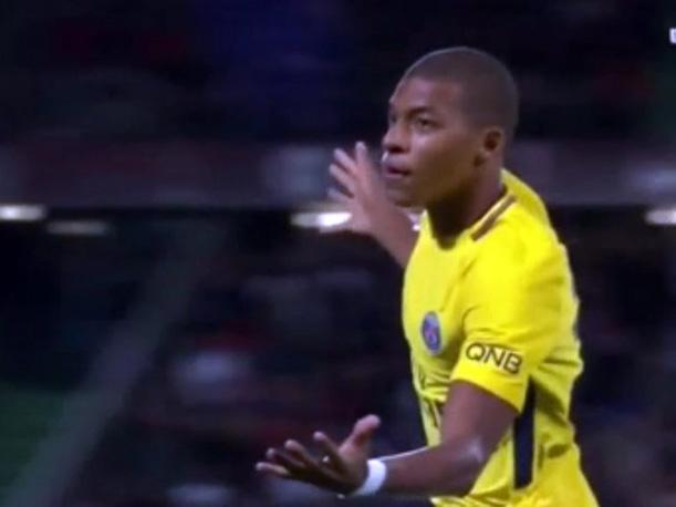 Kylian Mbappé convirtió su primer gol con la camiseta del PSG
