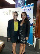 Cristina Rivero y Ingrid Mendoza