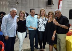 Eduardo Romero, Desiree Mostajo, Carmelo Rodriguez, Ingrid de Rodriguez, Eddith de Suarez y José Luis Suarez