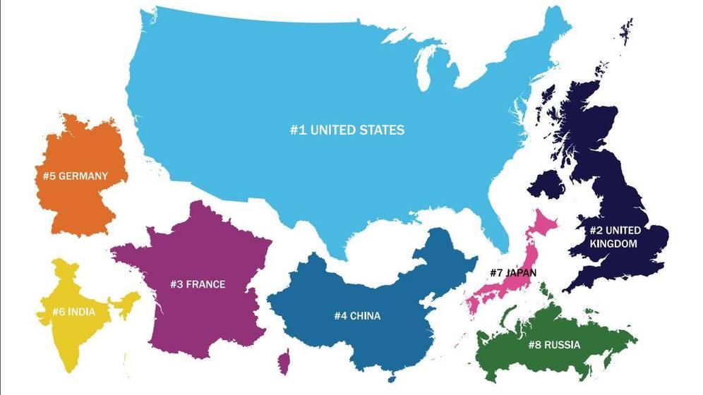 Foto: Los países que dominan el panorama internacional. (The Henry Jackson Society)