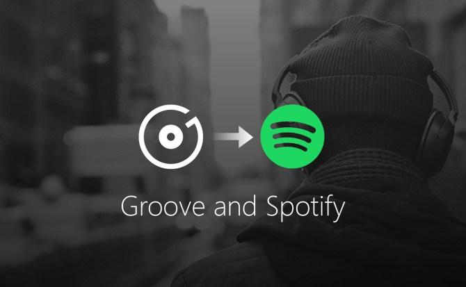 Microsoft se despide de Groove Music y le da la bienvenida a Spotify