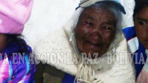 Cristina Cardoso Avasto, mamá y abuelita de cuatro menores pide ayuda. Foto:Ayuda en Acción Bolivia.