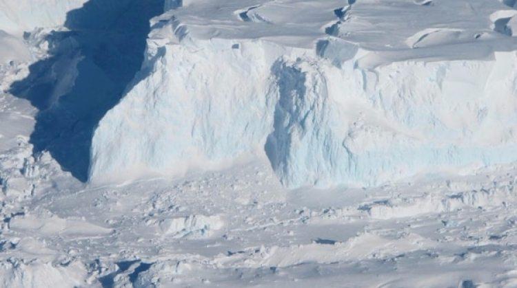 Una parte del glacial Thwaites (Fotografía proporcionada por la NASA de la autoría de Jim Yungel / The Washington Post)