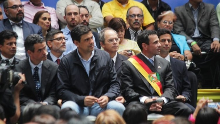Capriles manifestó su apoyo al candidato por Miranda Carlos Ocariz (Pablo Villarreal)