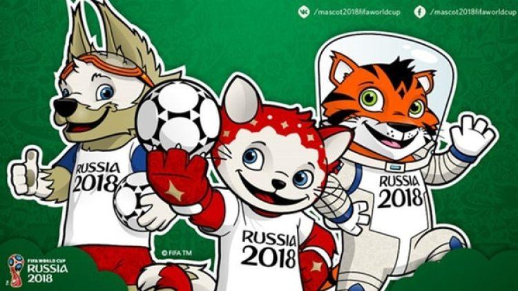 Las mascotas del Mundial de Rusia 2018, país que se espera que sea visitado por un millón de turistas
