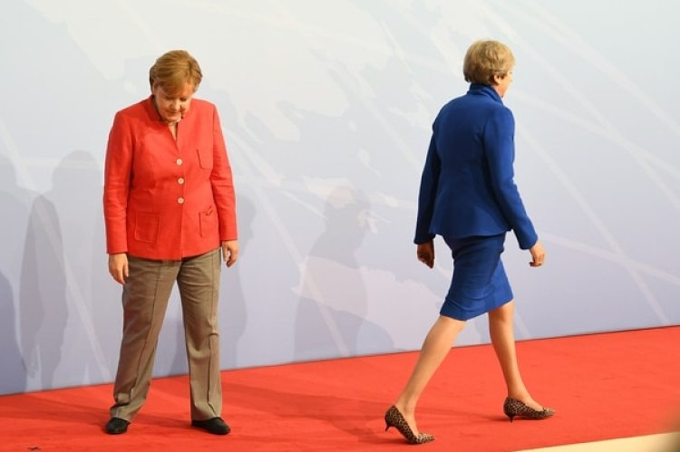 Angela Merkel y Theresa May (Getty)