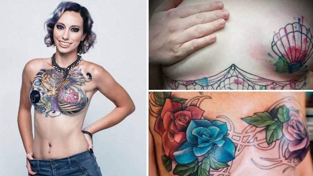 Foto: Tatuajes después de una mastectomía (Instagram)