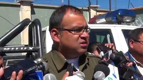 El director de la Fuerza Especial de Lucha Contra la Violencia (FELCV) de El Alto, capitán Jimmy Gonzales.