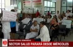 Sector salud parará este miércoles indefinidamente por bono de vacunación