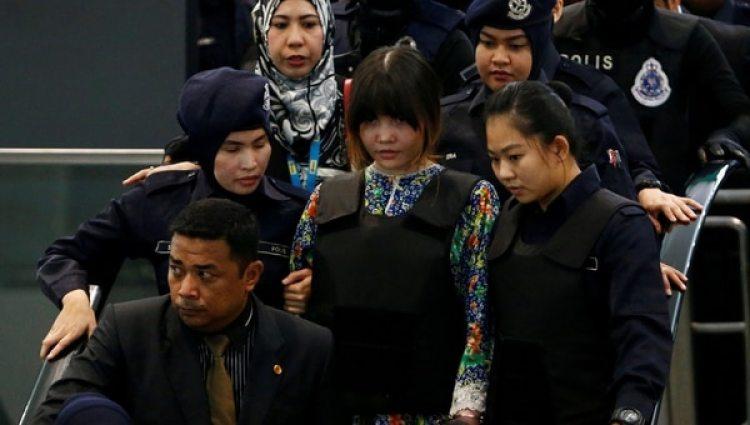 Las acusadas recorrieron el aeropuerto de Kuala Lumpur (Reuters)