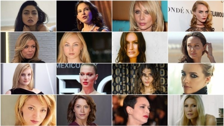 Algunas de las mujeres que denunciaron a Harvey Weinstein