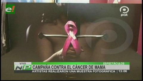 Artistas exponen obras en apoyo a pacientes de cáncer de mama