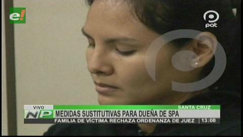 Medidas sustitutivas para dueña de spa Scent