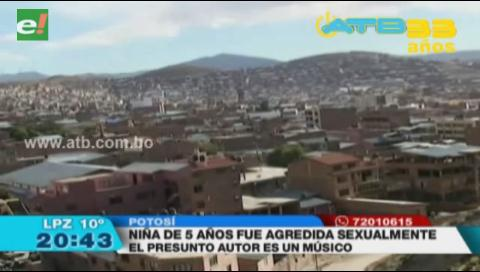 Niña de 5 años fue agredida sexualmente en Potosí