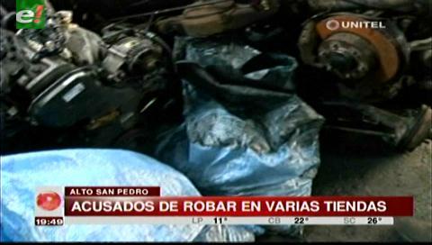 Fueron sorprendidos robando autopartes en Alto San Pedro