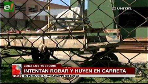 Los 'ladrones en carreta' vuelven a ser noticia en el barrio Virgen de Lujan