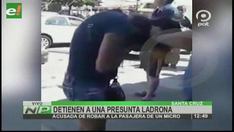 Vecinos detienen a una presunta carterista