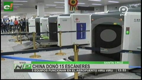 Estrenan cinco escáneres en el aeropuerto Viru Viru