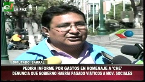 """Diputado Barral: Actos por el """"Che"""" causaron un enorme gasto económico"""