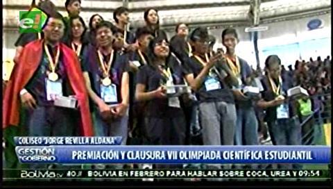 Premian a ganadores de VII Olimpiada Científica Estudiantil Plurinacional