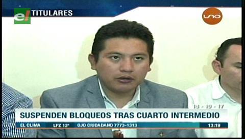 Video titulares de noticias de TV – Bolivia, mediodía del miércoles 18 de octubre de 2017