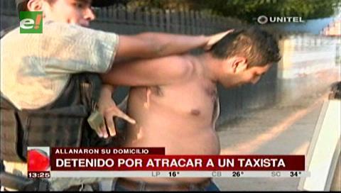 Detienen a sujeto acusado de atracar a un taxista