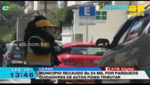 Municipio paceño recaudó Bs 24 mil en una semana por plan piloto de parqueos