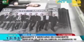 Magneto y Mercurio se presentarán en Cochabamba