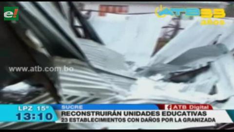 Anuncian la demolición y reconstrucción del colegio Aniceto Arce en Sucre