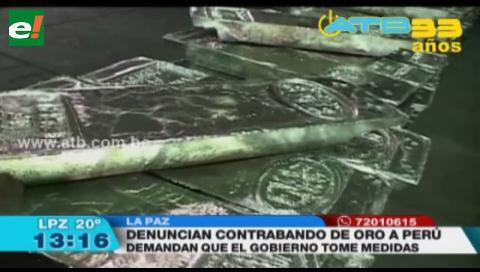 Cooperativistas auríferos denuncian contrabando de oro al Perú