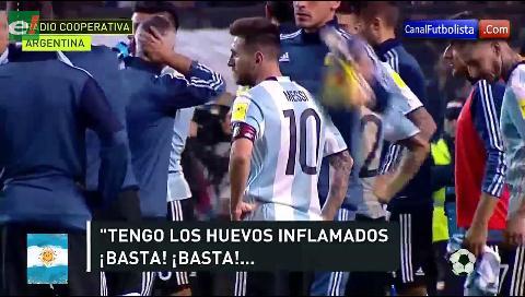 Relator argentino explotó contra Lionel Messi