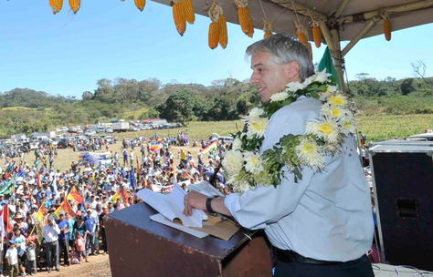 Álvaro garcía Linera durante un acto de Gobierno en Santa Cruz. Foto: Archivo ABI