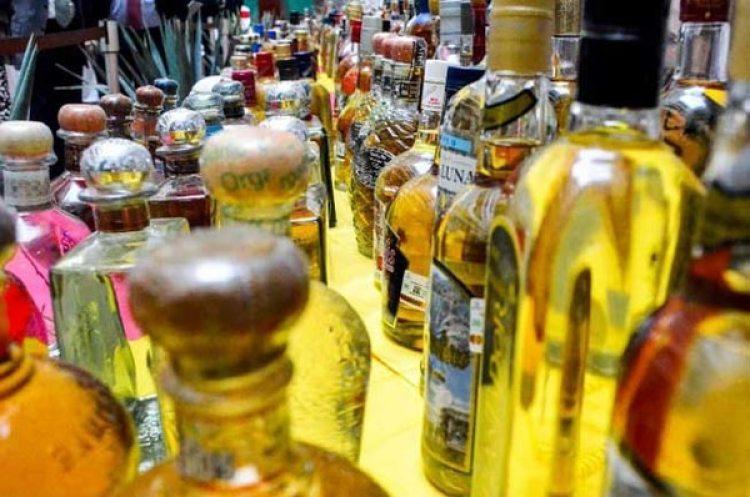 Diferentes marcas y botellas de Tequila