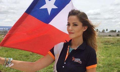 Valentina Schnitzer, la miss Chile que se solidarizó con la causa marítima boliviana.