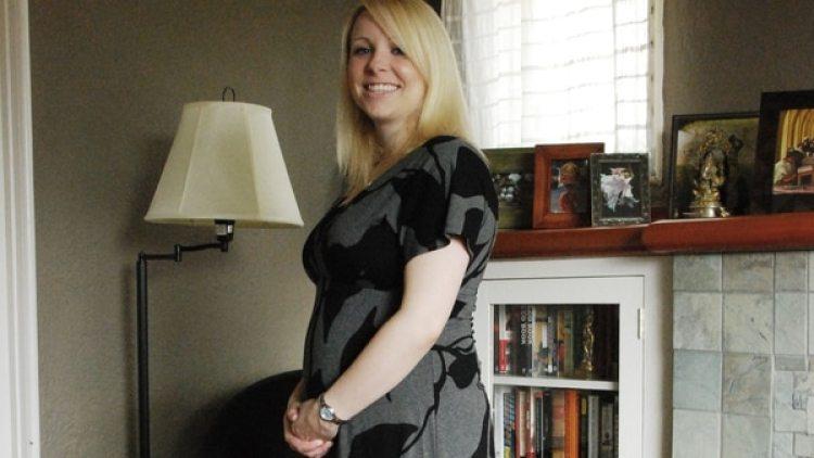Elizabet Logelin, durante el embarazo. (Foto: gentileza Matt Logelin)