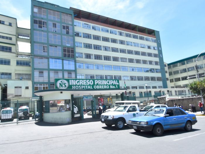 FRONTIS DEL HOSPITAL OBRERO.