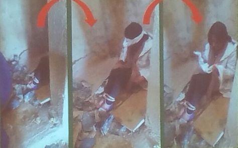Una secuencia de imágenes que la Policía descubrió del supuesto secuestro.
