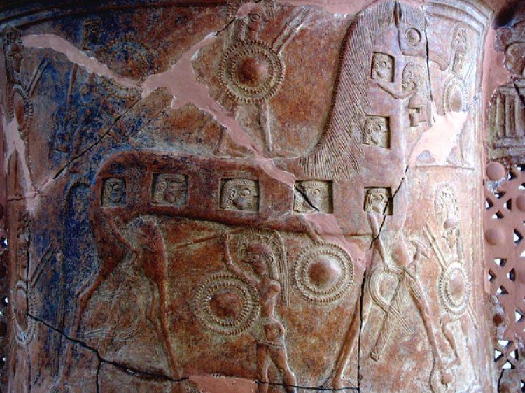La vajilla encontrada en Mykonos, del 670 a.C